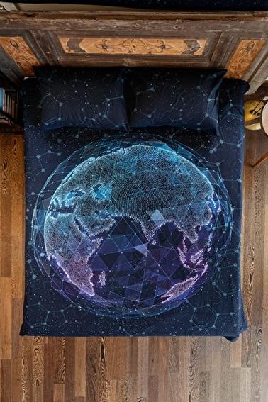 home-bath Çift Kişilik Nevresim Seti Beyond World Renkli